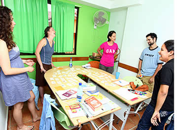 groupes dans l'HABLA YA Language Center � Boquete, Panama